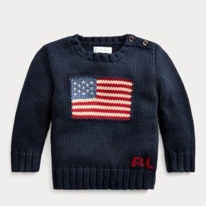 Ralph Lauren Navy 12M Flag Sweater